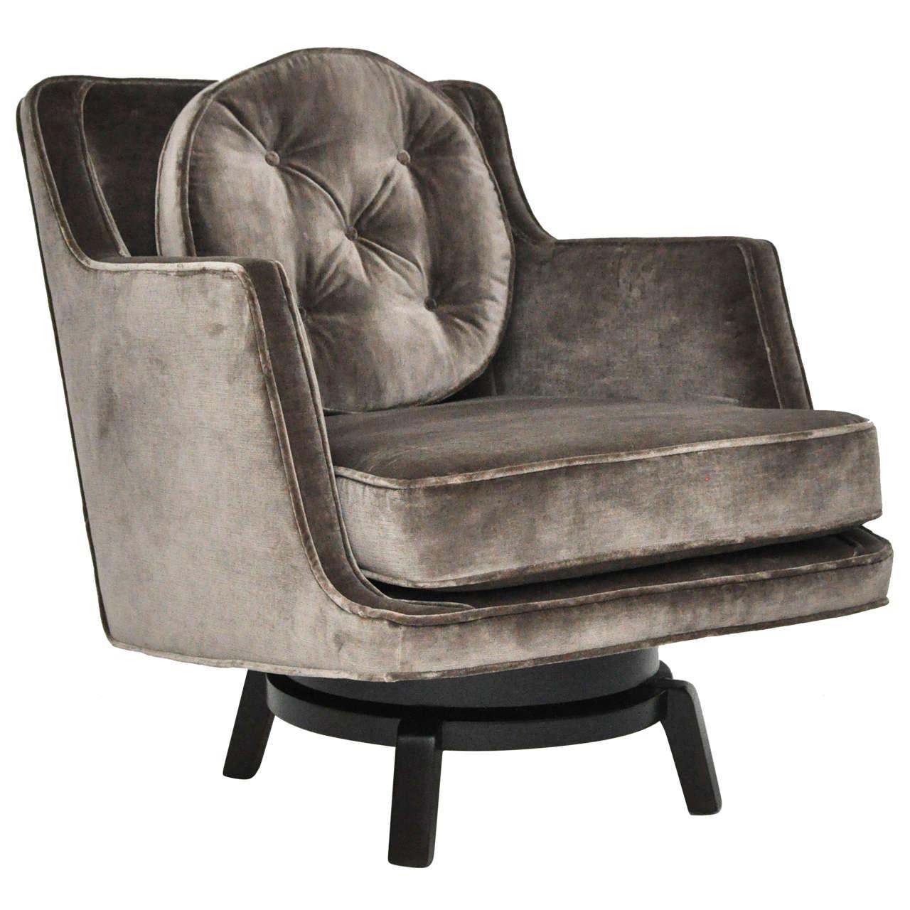 Dunbar swivel chair edward wormley at 1stdibs - Edward wormley chairs ...