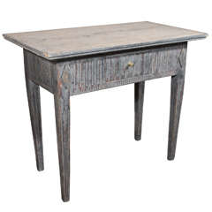 Charming Painted Side Table from Sweden
