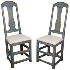 Quirky pair of Swedish side chairs