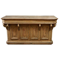 French Store Counter with Corbels
