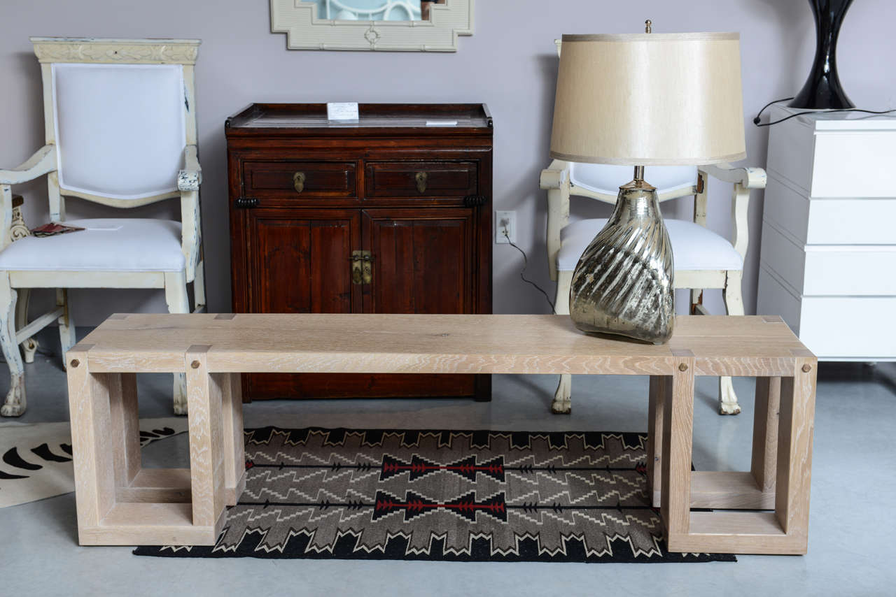 Ring Of The Tree,one Of Its Kind White Oak Handmade Bench