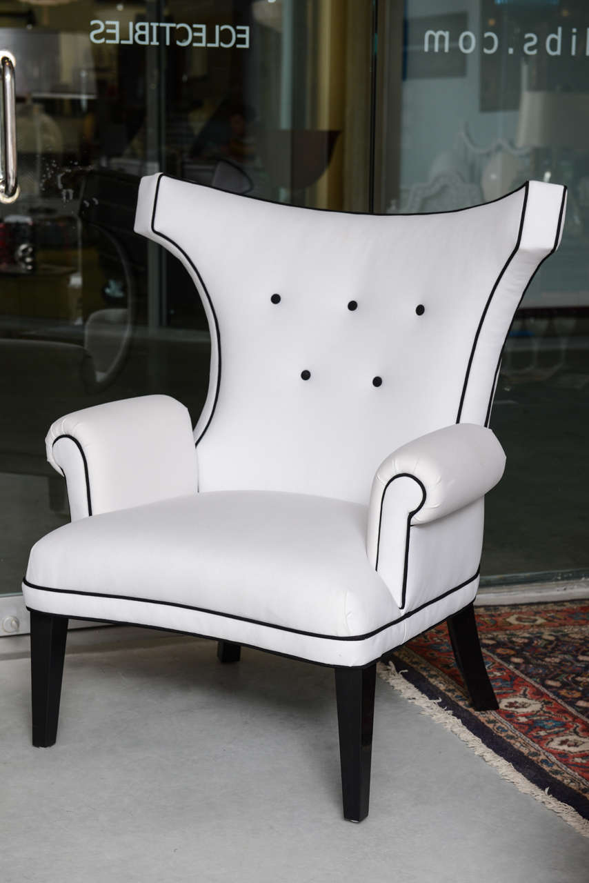 "American Custom ""Dorothy Draper"" Style Salon Chairs Designed by Susane R For Sale"