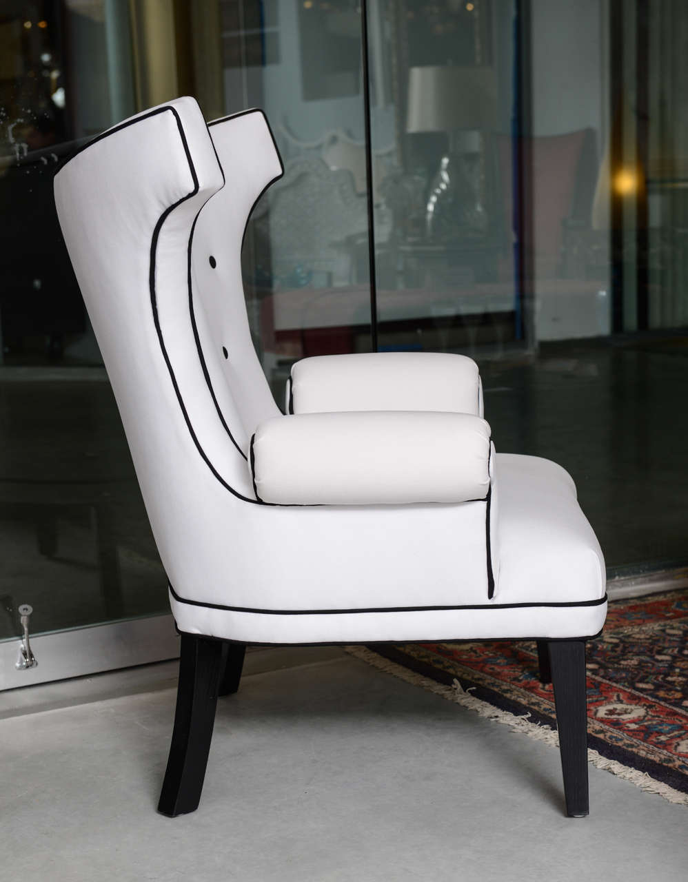 "Contemporary Custom ""Dorothy Draper"" Style Salon Chairs Designed by Susane R For Sale"