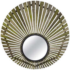London Teak Starburst Mirror