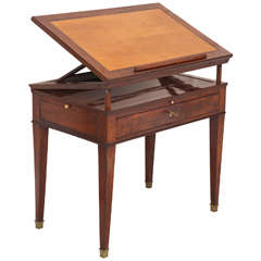 Early 19th Century French Empire Mahogany Architect's Table