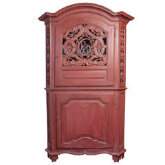 19th Century Continental Painted Cabinet