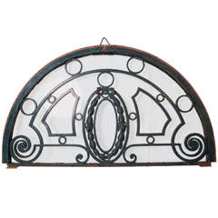 19th Century French Iron Transom Window