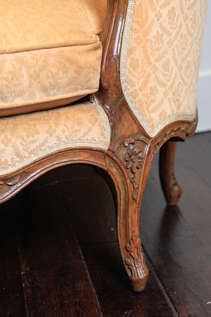 Velvet 18th Century French Sofa For Sale