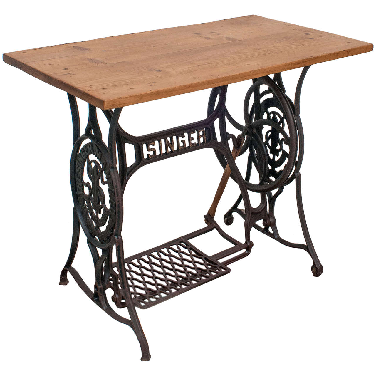 Sewing machine table at 1stdibs - Singer sewing machine table ...