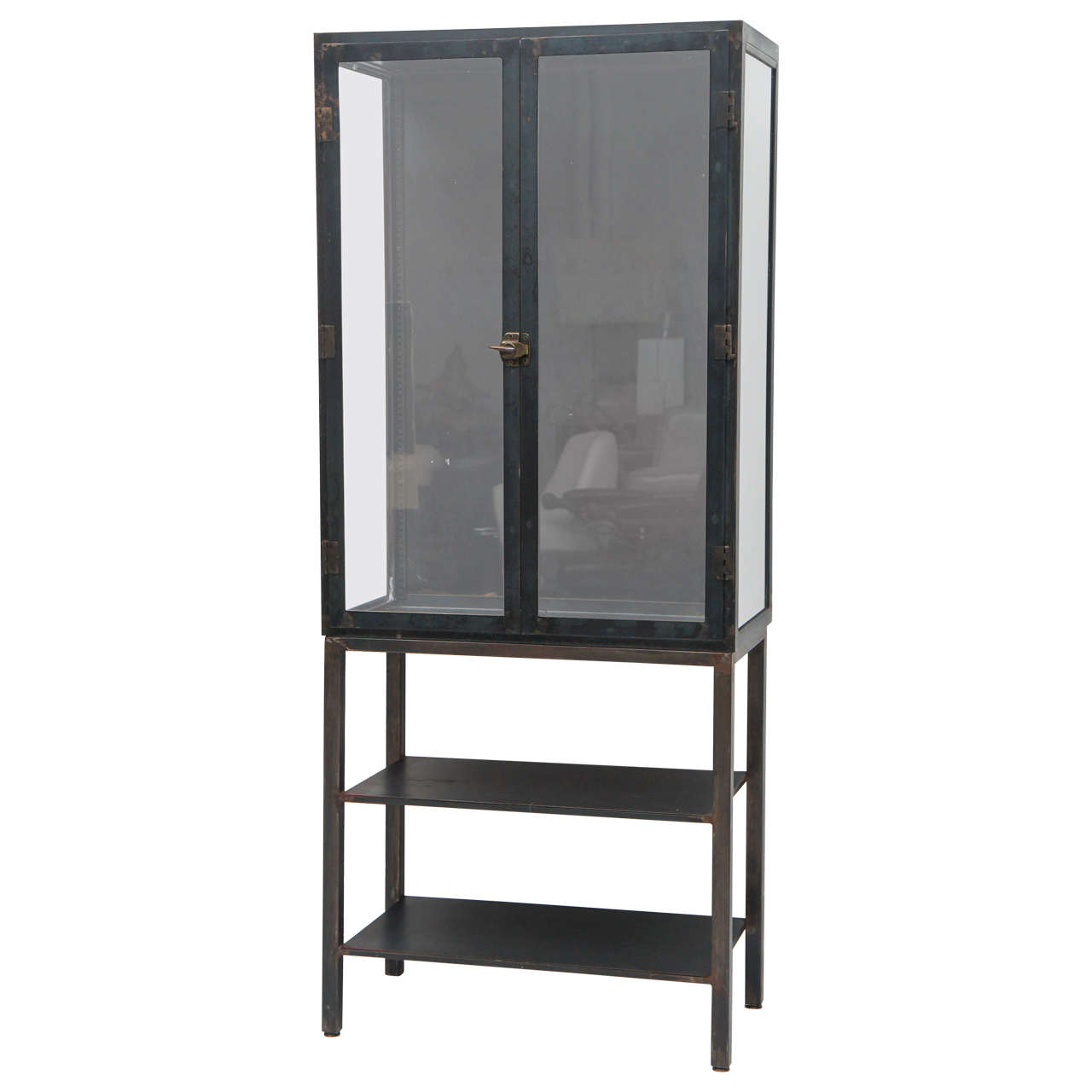 Metal industrial cabinet steam punk or etagere 1