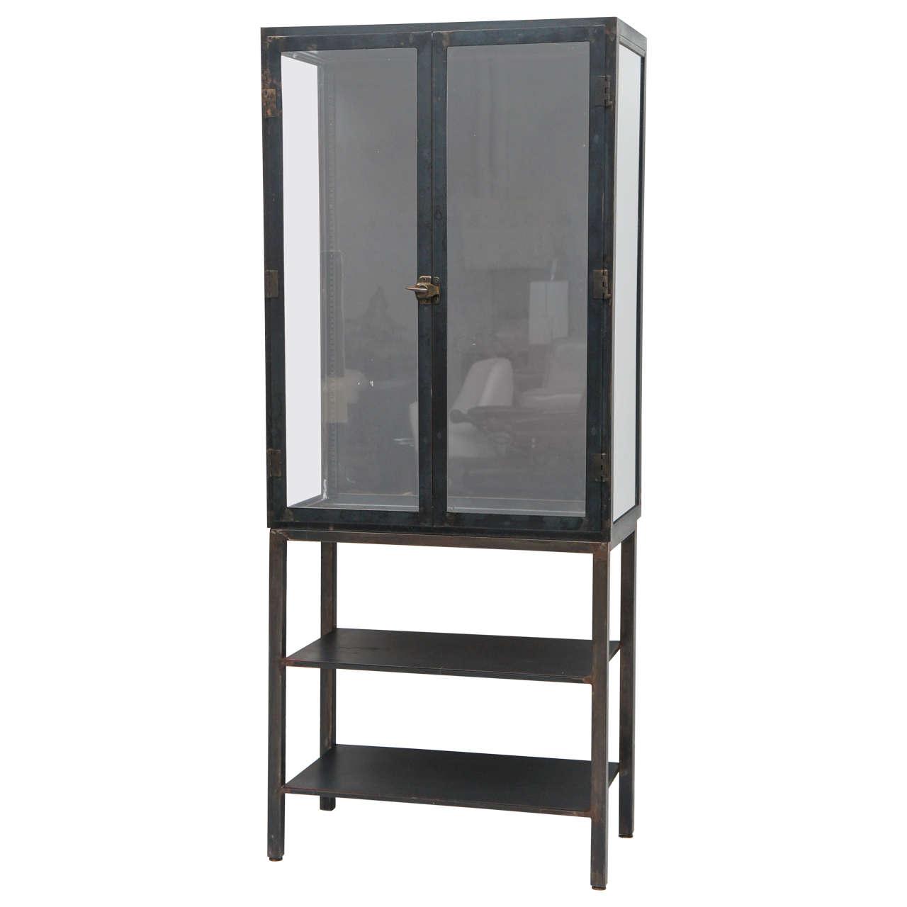 Metal industrial cabinet steam punk or etagere 1