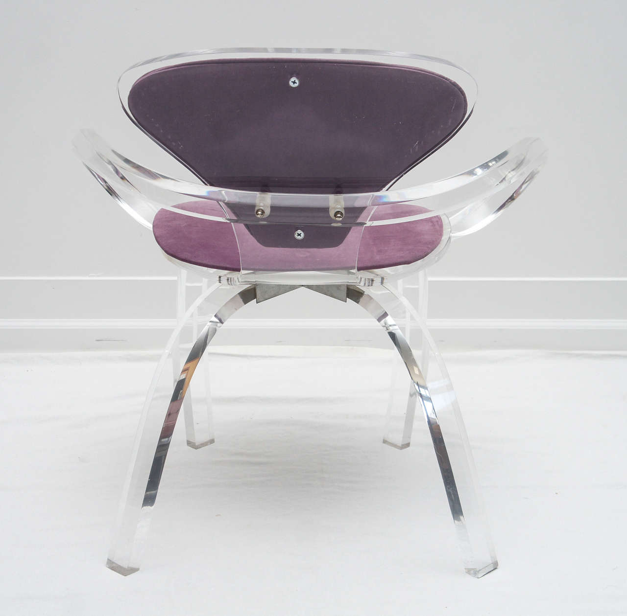 American set of 4 Lucite pretzel chairs, after Cherner     (available as single or pair) For Sale