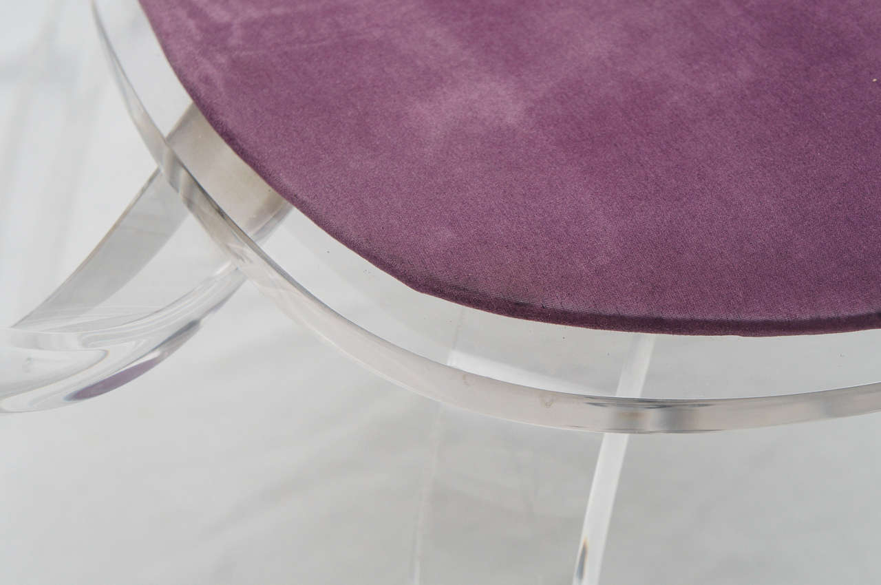 set of 4 Lucite pretzel chairs, after Cherner     (available as single or pair) For Sale 2