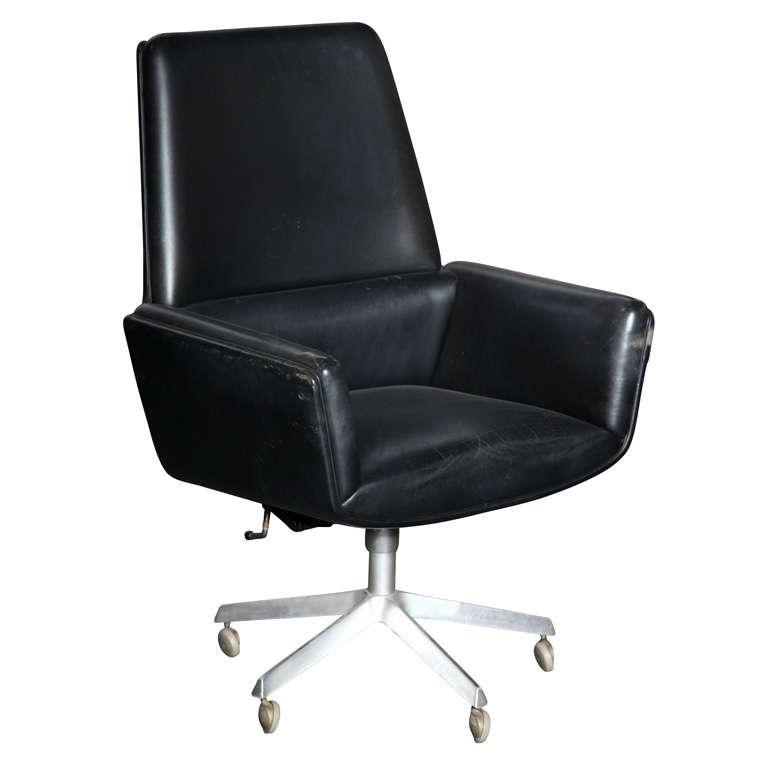 Black Leather Desk Chair Frankie Black Leather Office
