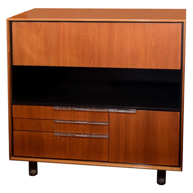 art deco cabinet and secretary designed by gilbert rohde for herman miller at 1stdibs. Black Bedroom Furniture Sets. Home Design Ideas