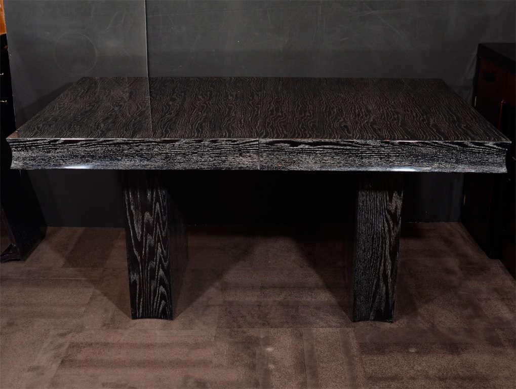 Outstanding Silver Cerused Oak Dining Table By Eugene Schoen 2
