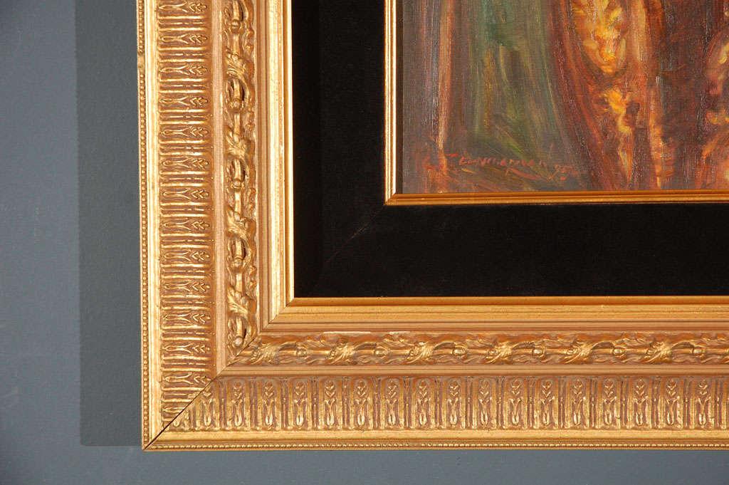 Ornate Framed Oil Portrait of Barbara Streisand image 3