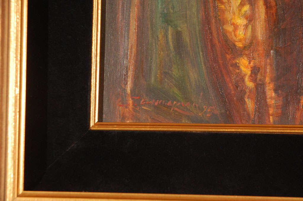 Ornate Framed Oil Portrait of Barbara Streisand image 4