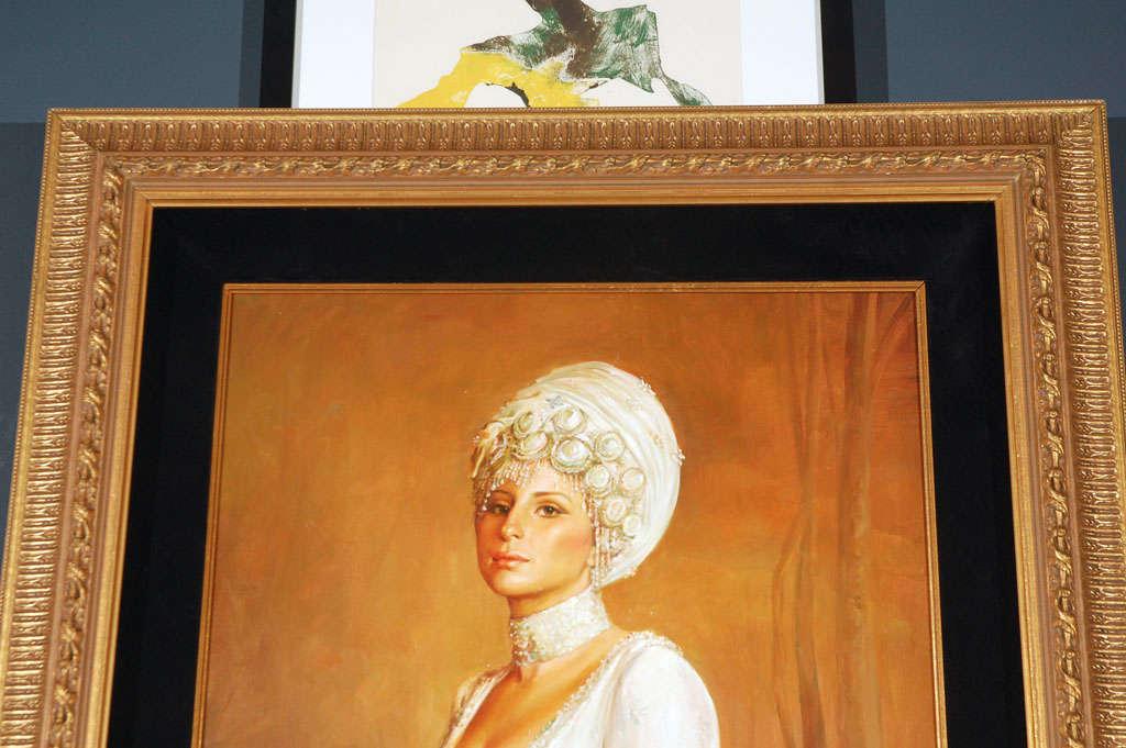Ornate Framed Oil Portrait of Barbara Streisand image 6