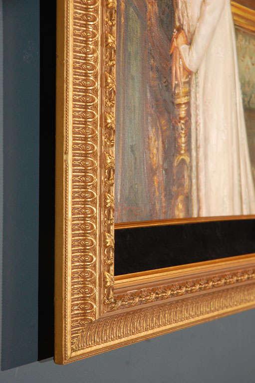 Ornate Framed Oil Portrait of Barbara Streisand image 7