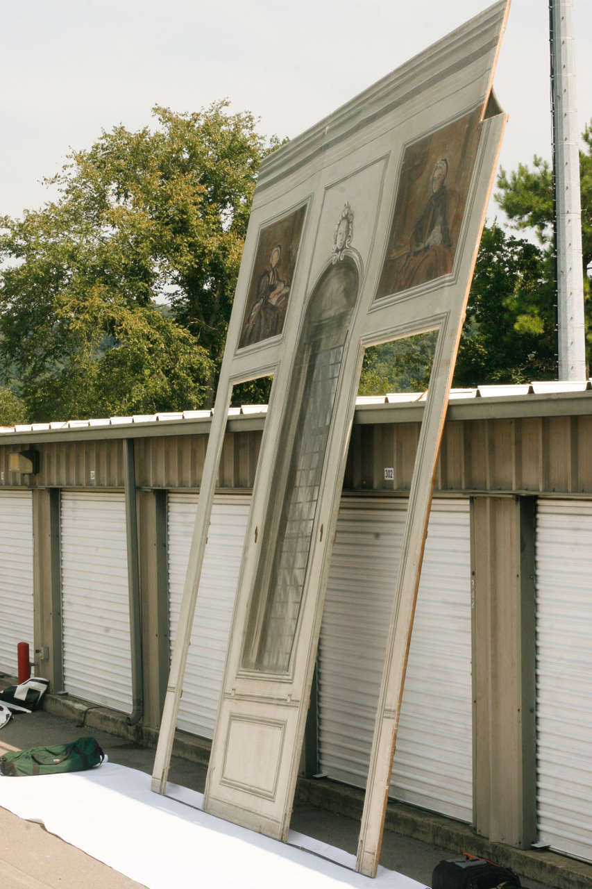 French Painted Canvas Theater Backdrop from Chateau de Groussay For Sale 2