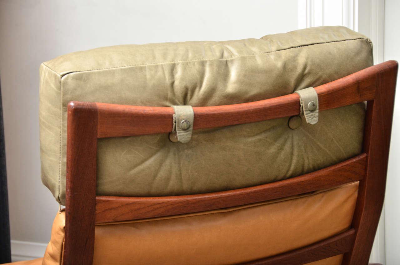 Teak Midcentury Scandinavian Lounge Chair For Sale