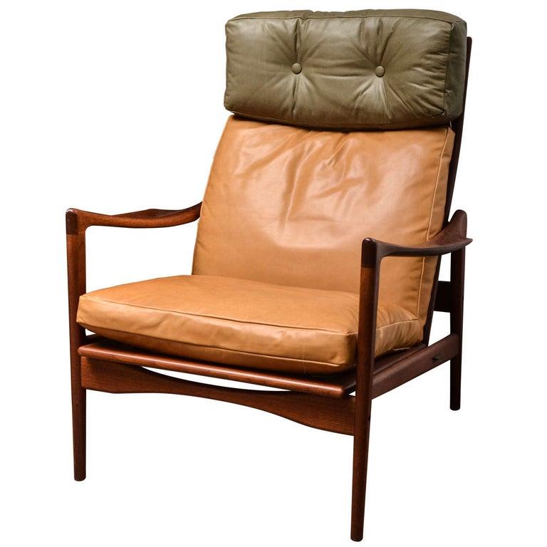 Midcentury Scandinavian Lounge Chair For Sale