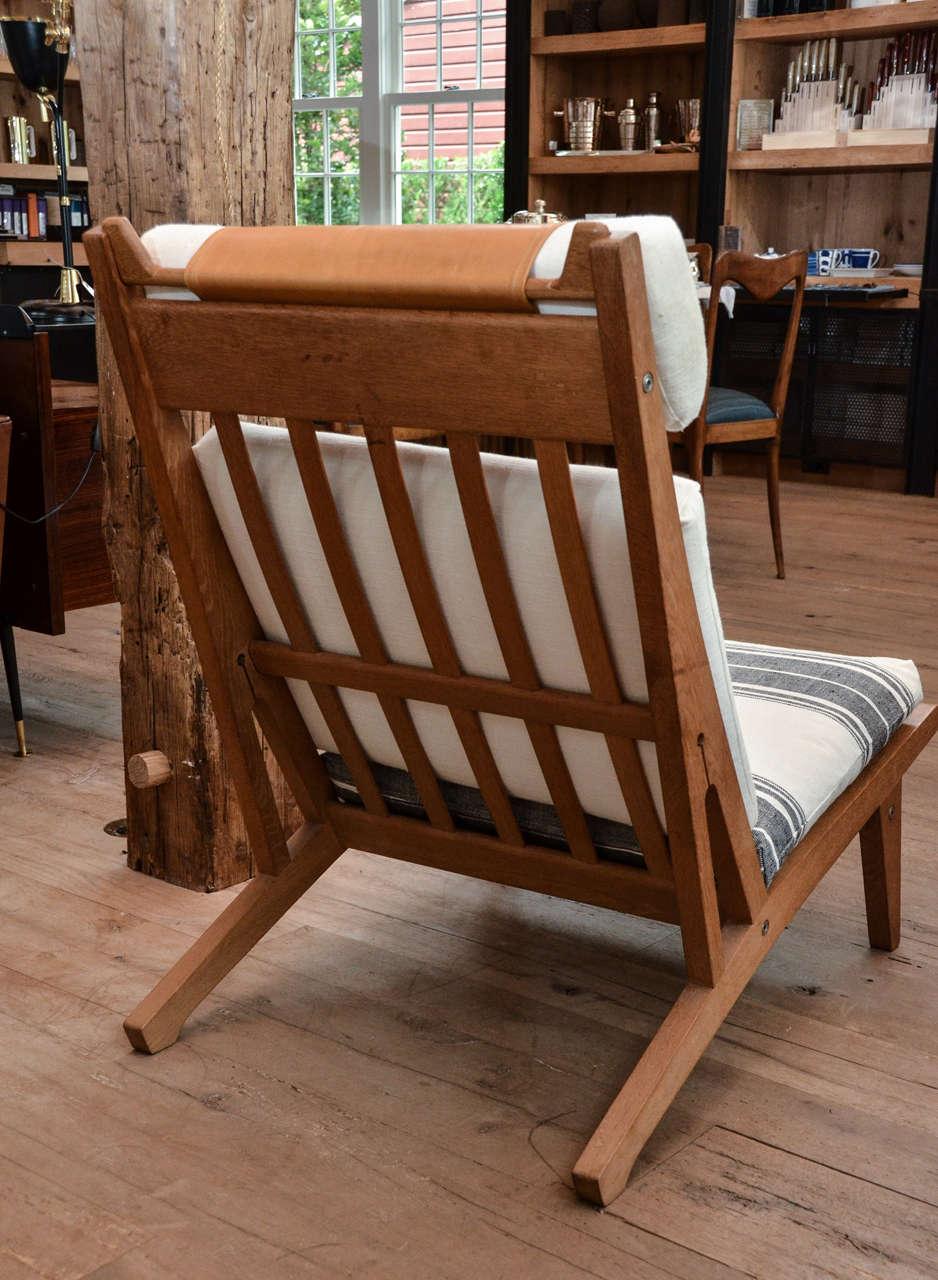 Mid Century Hans Wegner Deck Chair At 1stdibs