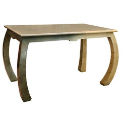 1960s Lacquered Goatskin Table in the Manner of Karl Springer