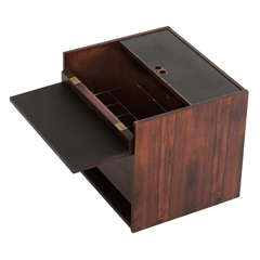 Luxury Cube Shaped Dry Bar in Rosewood