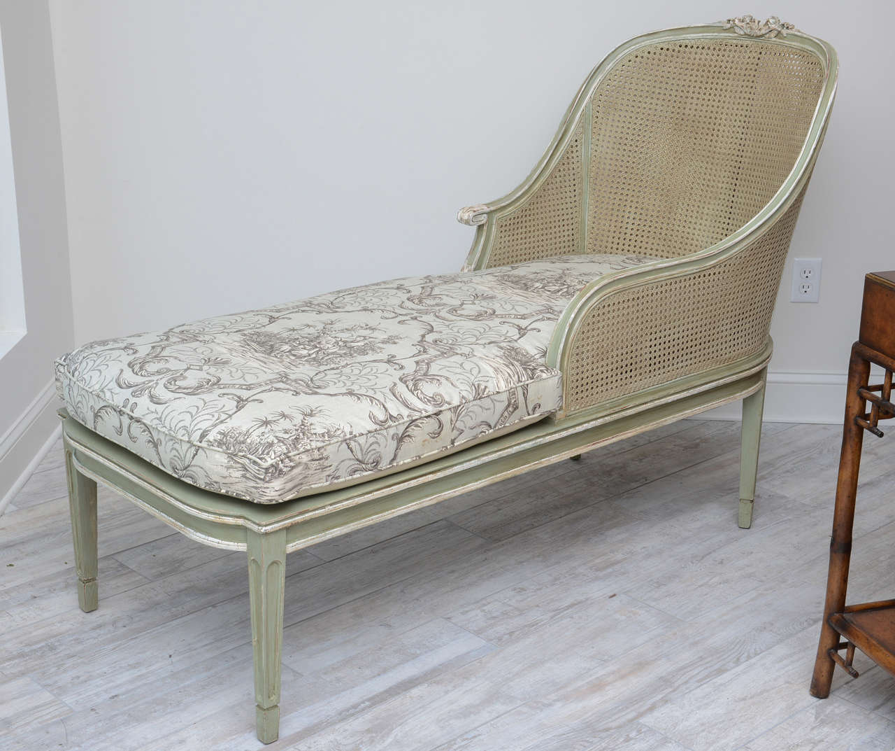 Louis xvi style french caned chaise lounge at 1stdibs - Chaises louis 16 ...