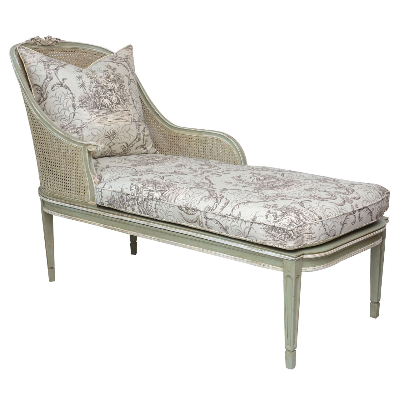 Louis XVI Style French Caned Chaise Lounge 1  sc 1 st  1stDibs : french chaise lounge chair - Sectionals, Sofas & Couches