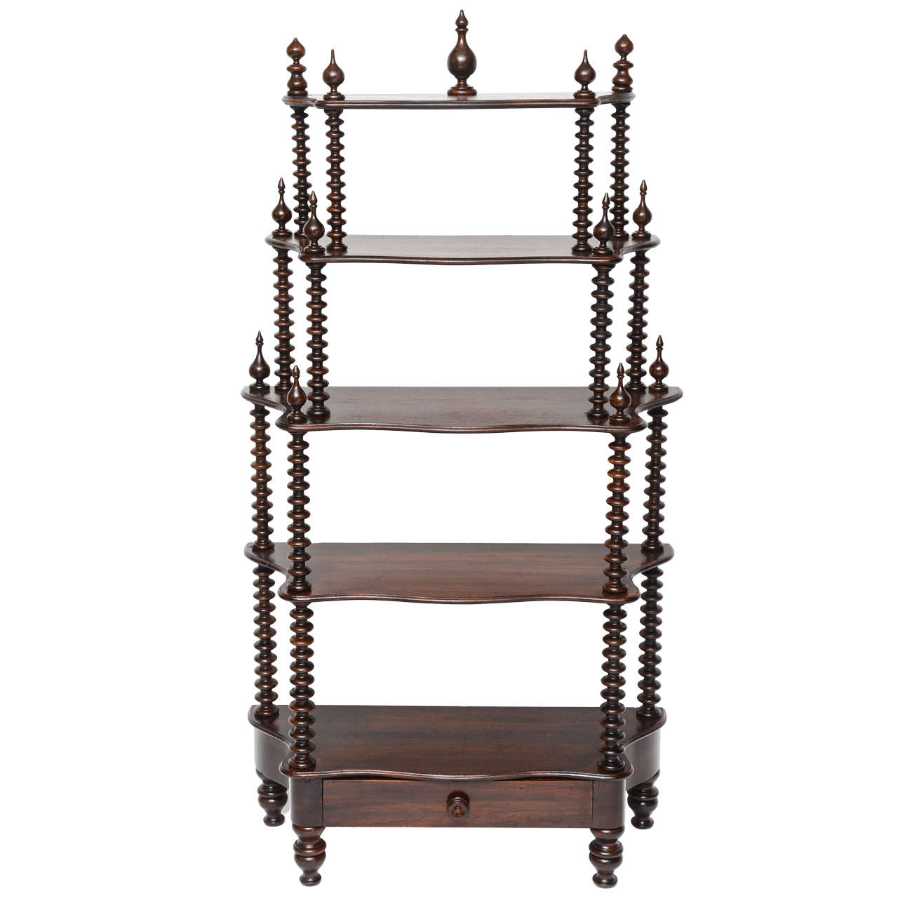 19th century five tier barley twist tag re at 1stdibs. Black Bedroom Furniture Sets. Home Design Ideas