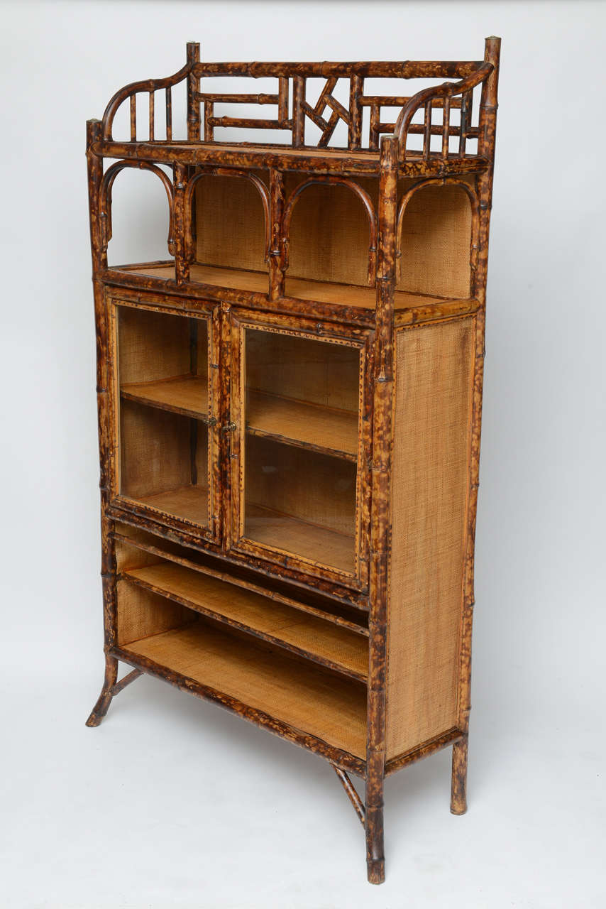 antique bamboo cabinet image 4