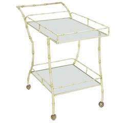 Faux Bamboo Tea Cart