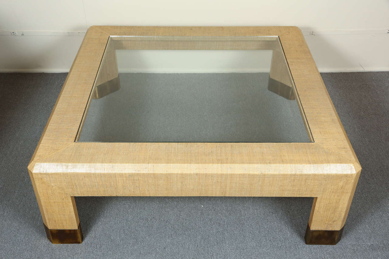 gras cloth coffee table by steve chase at 1stdibs