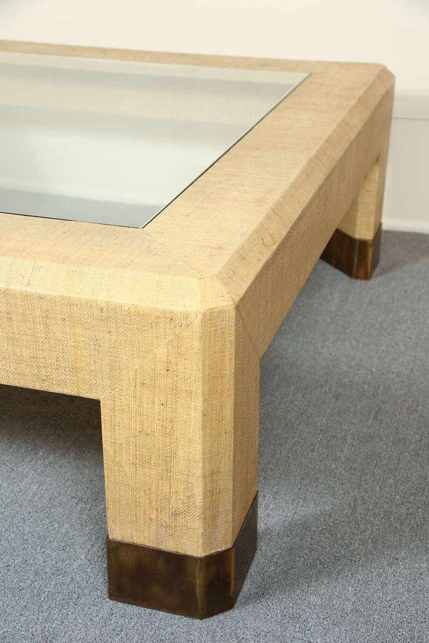 Gras cloth coffee table by steve chase at 1stdibs Coffee table tablecloth