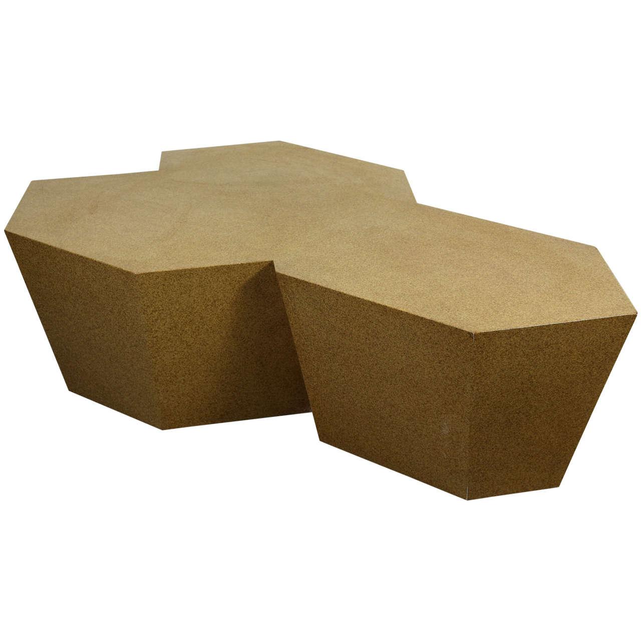 Beautiful geometric coffee table by steve chase at 1stdibs for Geometric coffee table
