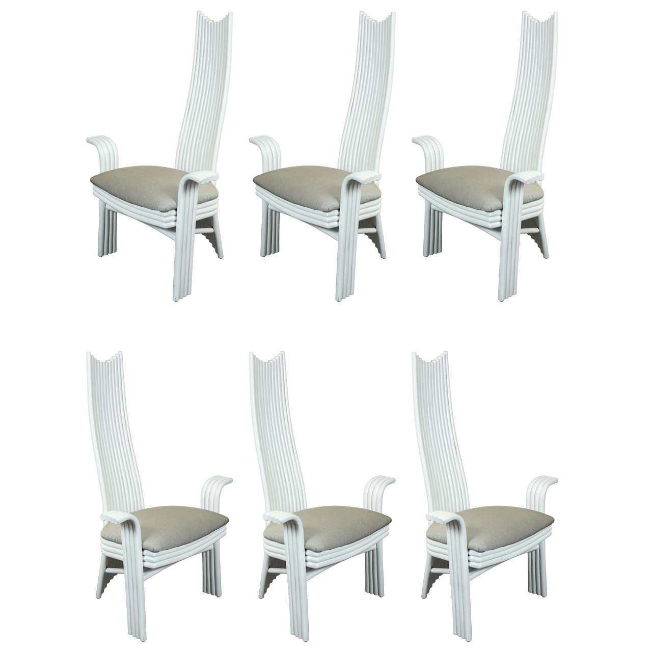 Unusual Dining Chairs: Six Unusual High-Back Dining Chairs At 1stdibs
