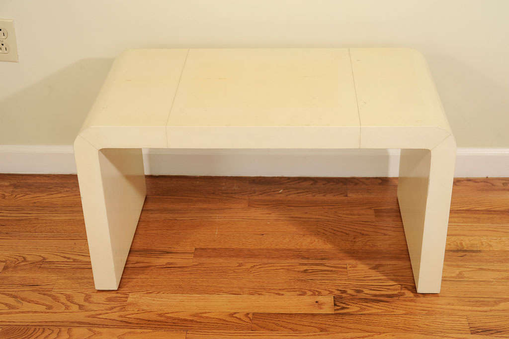 Waterfall Coffee Table In Ivory Parchment After Frank At 1stdibs