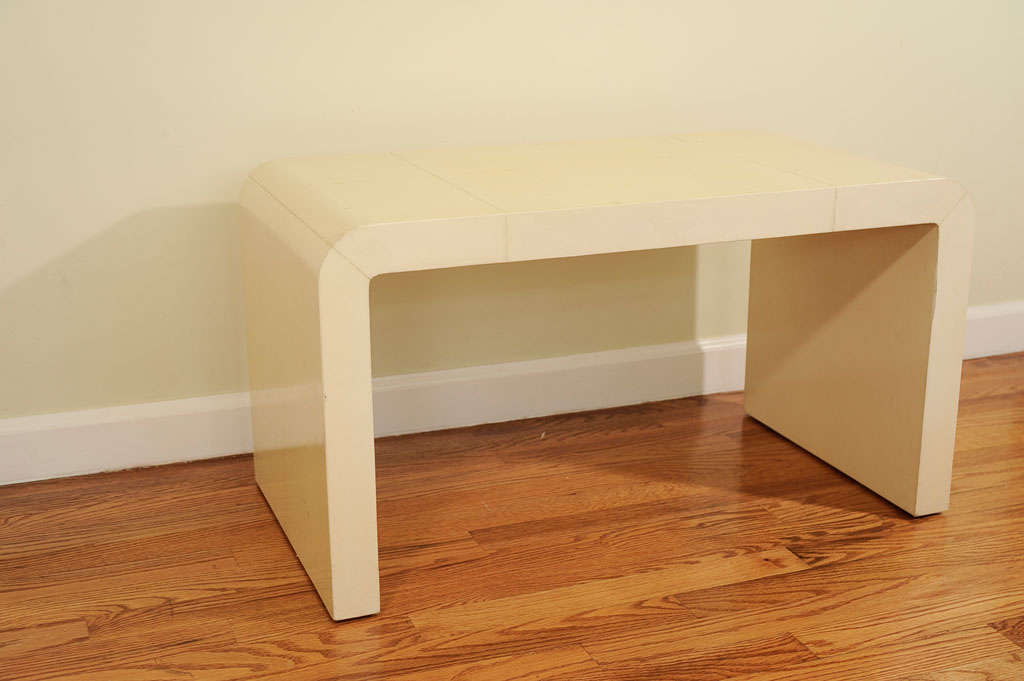Waterfall Coffee Table In Ivory Parchment, After Frank 2