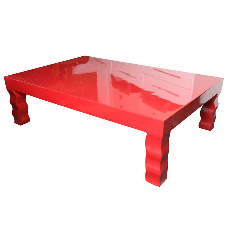 Ferrari Red Laquered Coffee Table At 1stdibs