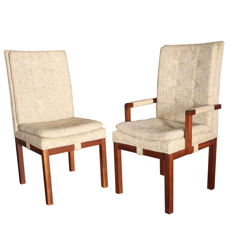 Set of 6 Mid Century Dining Room Chairs For Sale at 1stdibs