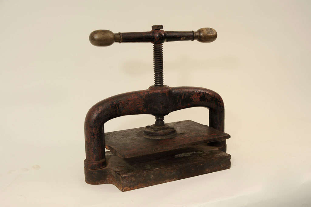 Vintage Metal Book Press At 1stdibs