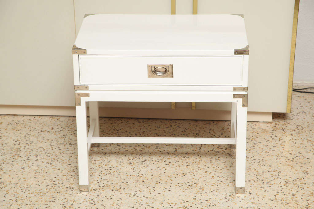 American Campaign-Style End Tables/Night Stands For Sale