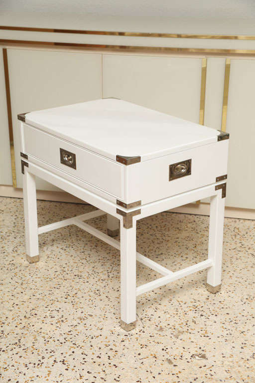 Late 20th Century Campaign-Style End Tables/Night Stands For Sale