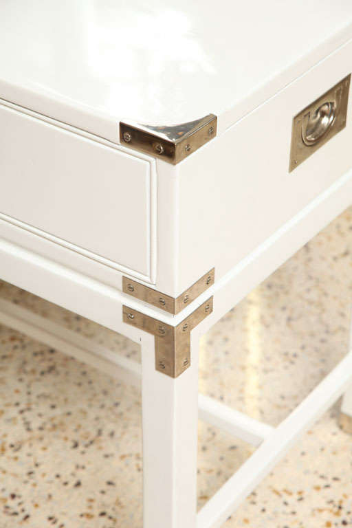 Wood Campaign-Style End Tables/Night Stands For Sale