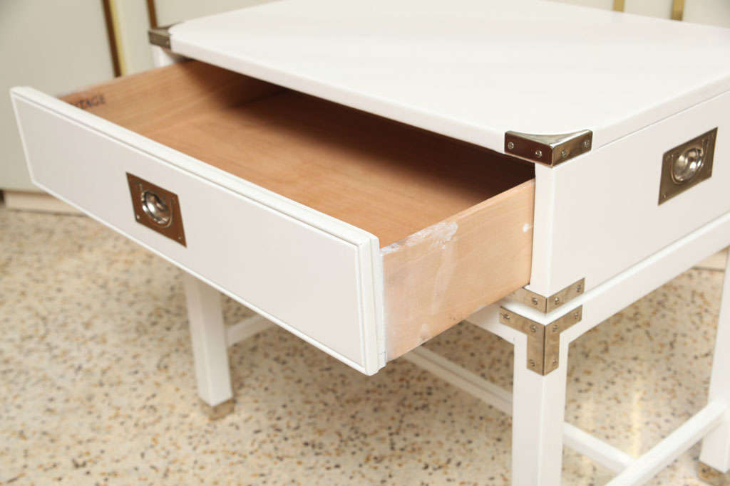 Campaign-Style End Tables/Night Stands For Sale 2