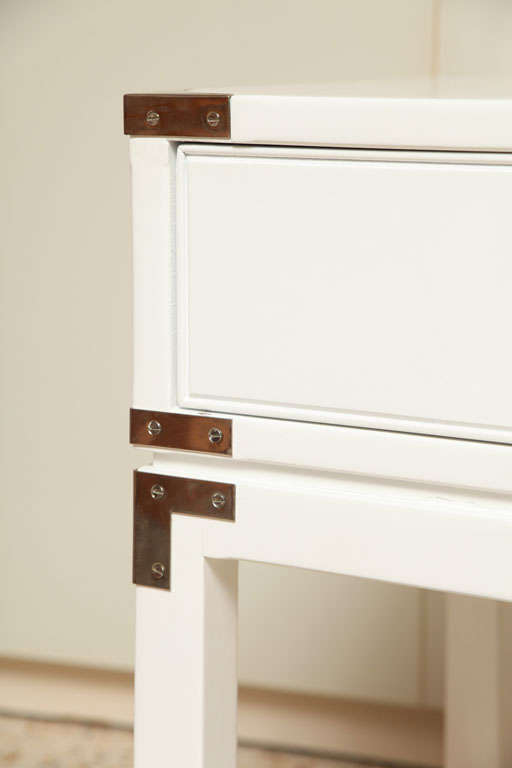 Campaign-Style End Tables/Night Stands For Sale 5