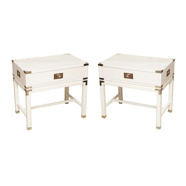 Charming Campaign Style End Tables/Night Stands 1